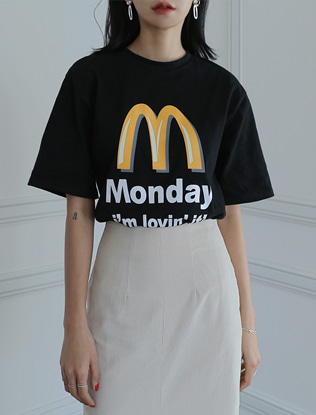 Monday Logo Print T-Shirt